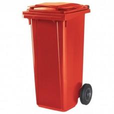 Мусорный контейнер ESE 120 л красный