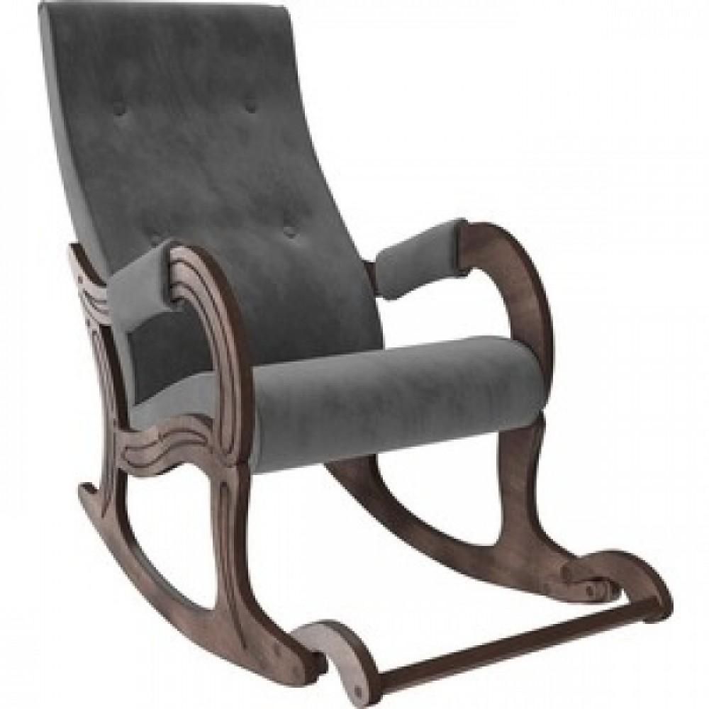 Кресло-качалка Мебель Импэкс Модель 707 орех антик/ Verona antrazite grey