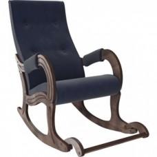 Кресло-качалка Мебель Импэкс Модель 707 орех антик/ Verona denim blue