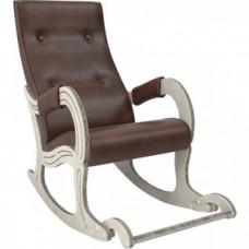 Кресло-качалка Мебель Импэкс Модель 707 дуб шампань/патина, к/з antik crocodile