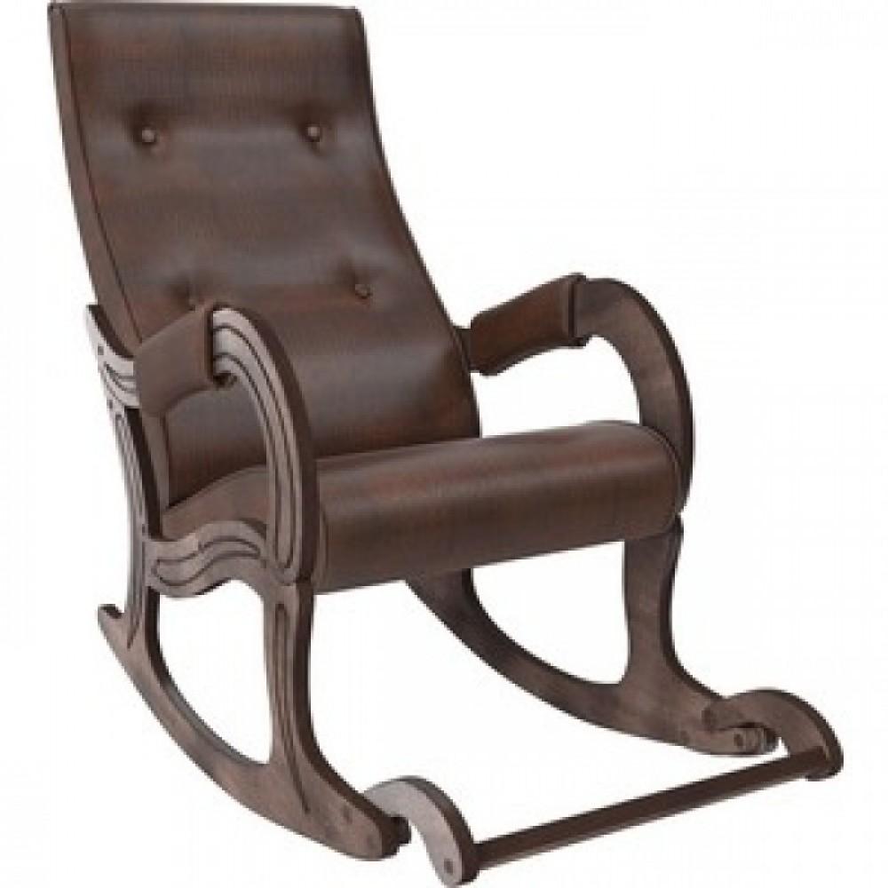 Кресло-качалка Мебель Импэкс Модель 707 орех антик, к/з antik crocodile