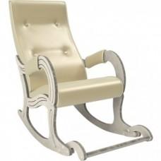 Кресло-качалка Мебель Импэкс Модель 707 дуб шампань/патина, к/з Oregon perlamutr 106
