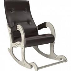 Кресло-качалка Мебель Импэкс Модель 707 дуб шампань/патина, к/з Oregon perlamutr 120