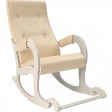 Кресло-качалка Мебель Импэкс Модель 707 дуб шампань, к/з Polaris Beige