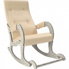 Кресло-качалка Мебель Импэкс Модель 707 дуб шампань/патина, к/з Polaris Beige