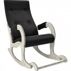Кресло-качалка Мебель Импэкс Модель 707 дуб шампань/патина, к/з Vegas lite black