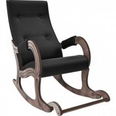 Кресло-качалка Мебель Импэкс Модель 707 орех антик,к/з Vegas lite black