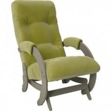 Кресло-качалка Импэкс Модель 68 серый ясень ткань Verona apple green