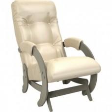 Кресло-качалка Импэкс Модель 68 серый ясень к/з oregon perlamutr 106