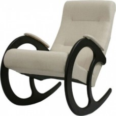 Кресло-качалка Мебель Импэкс Ева №3 каркас венге/ткань бежевая К671-МТ001