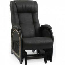 Кресло-качалка Импэкс Модель 48 венге каркас венге с лозой, обивка Dundi 109