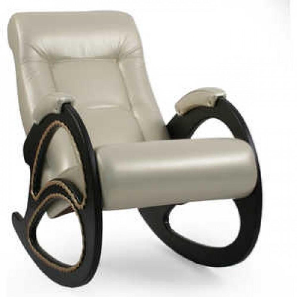Кресло-качалка Импэкс Модель 4 каркас венге с лозой,обивка Орегон перламутр 106