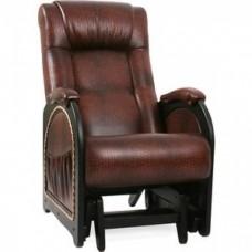 Кресло глайдер Импэкс Модель 48 венге с лозой, обивка Antik crocodile