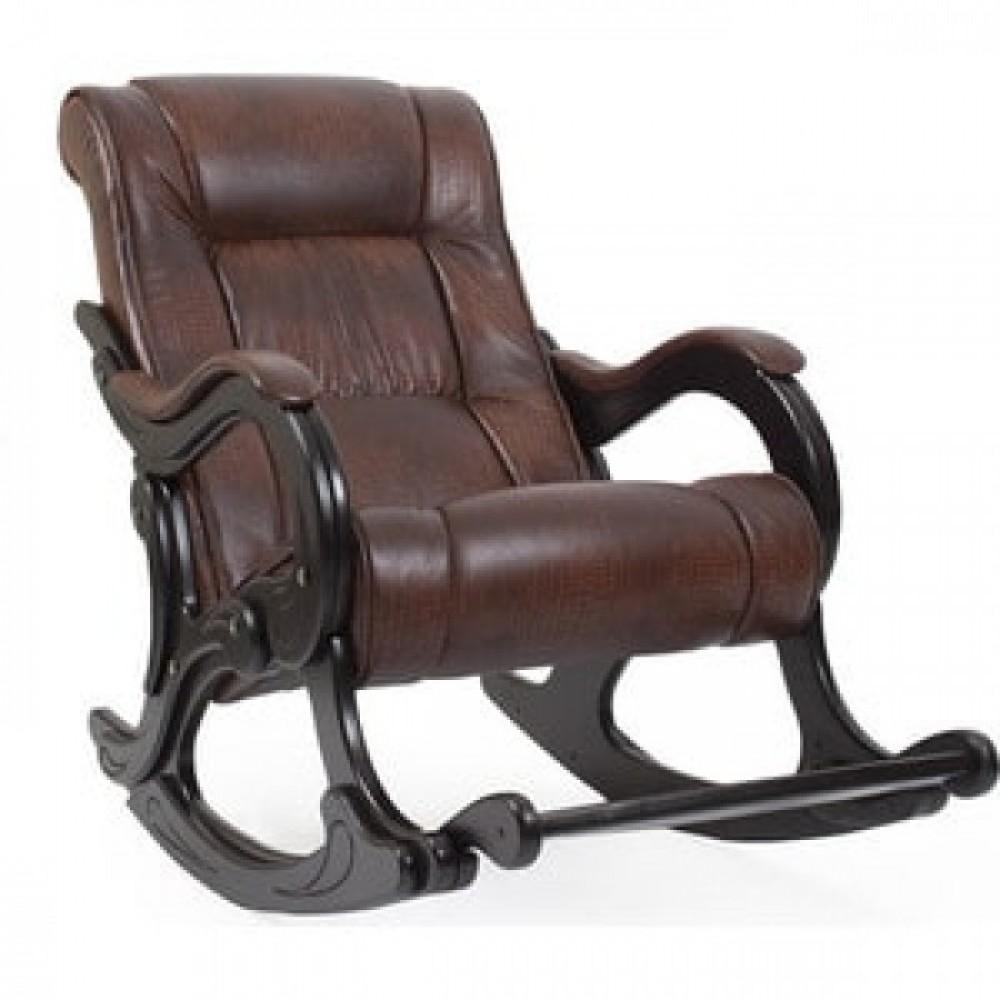 Кресло-качалка Импэкс Модель 77 венге, обивка Antik crocodile