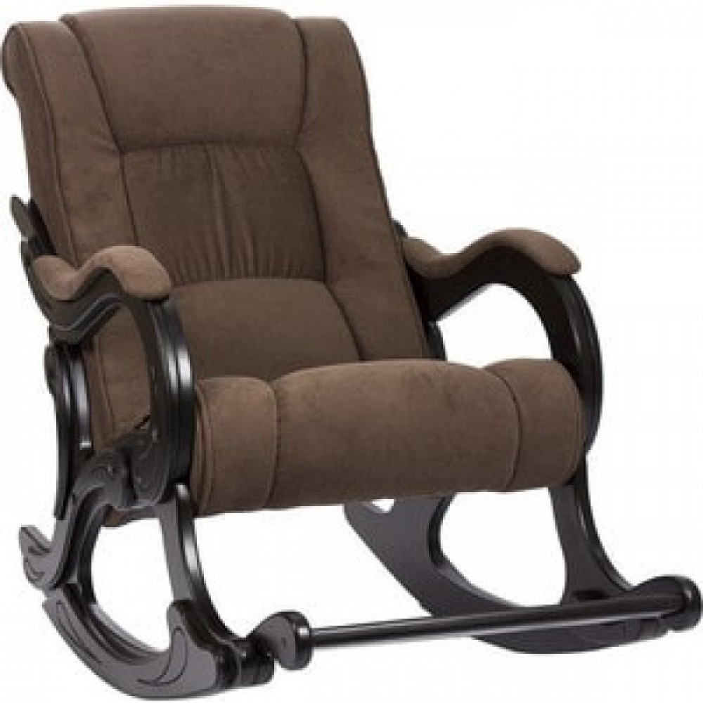 Кресло-качалка Импэкс Модель 77 венге, обивка Verona Brown