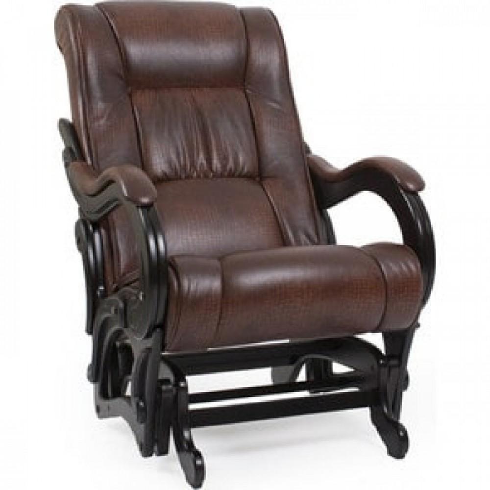 Кресло-качалка Импэкс Модель 78 венге, обивка Antik crocodile