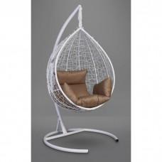 Подвесное кресло-кокон Sevilla белый/бежевый