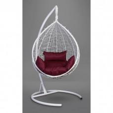 Подвесное кресло-кокон Sevilla белый/бордовый