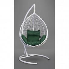 Подвесное кресло-кокон Sevilla белый/зеленый
