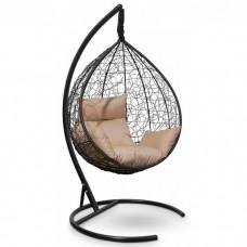 Подвесное кресло-кокон Sevilla черный/бежевый