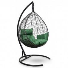 Подвесное кресло-кокон Sevilla черный/зеленый