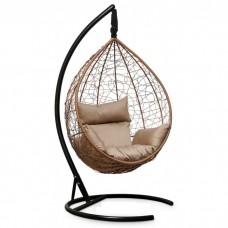 Подвесное кресло-кокон Sevilla горячий шоколад/бежевый