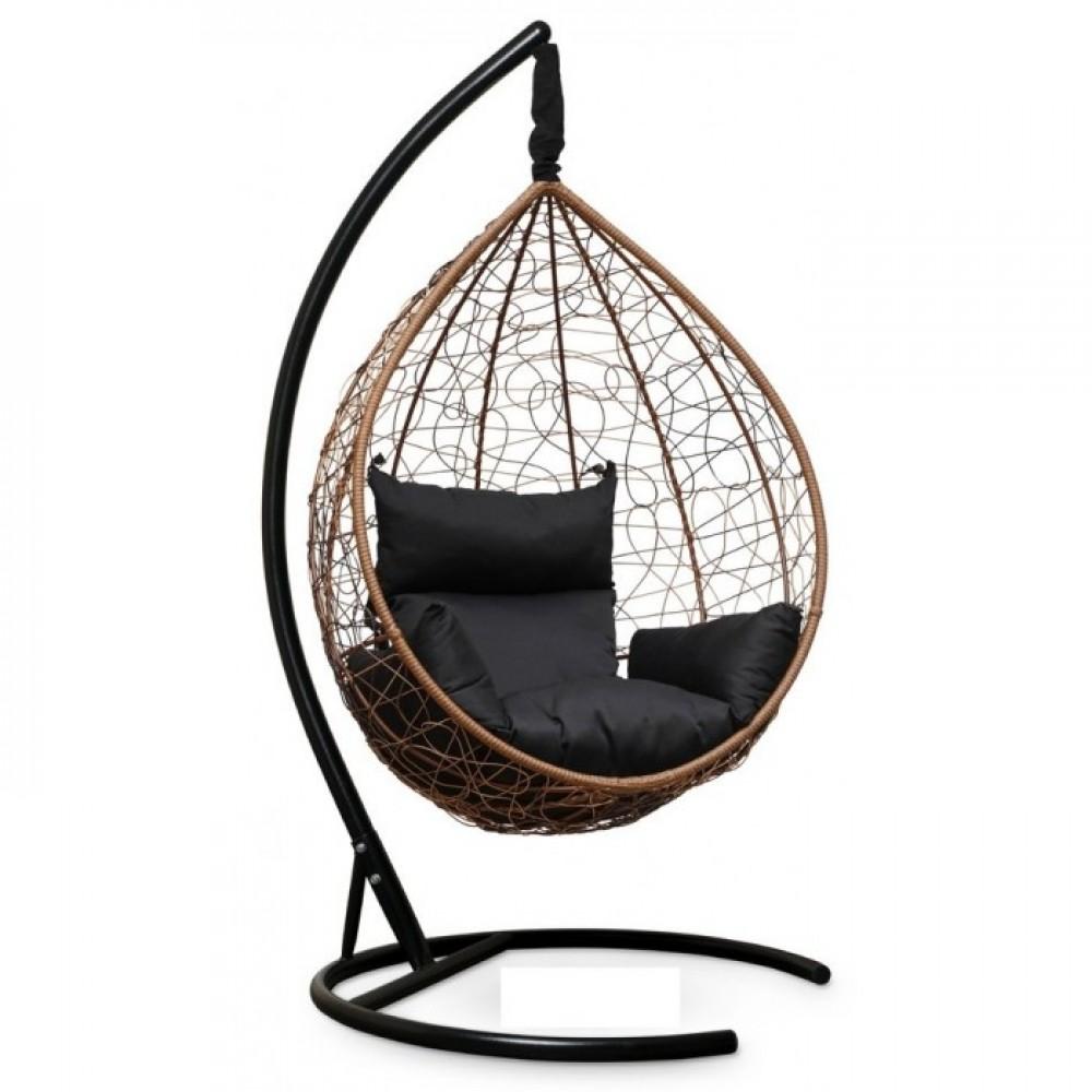 Подвесное кресло-кокон Sevilla горячий шоколад/черный
