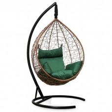 Подвесное кресло-кокон Sevilla горячий шоколад/зеленый