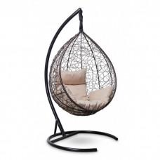 Подвесное кресло-кокон Sevilla коричневый/бежевый
