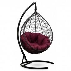 Подвесное кресло-кокон Sevilla Verde коричневый/бордовый