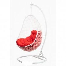 Подвесное кресло BiGarden Easy white (красная подушка)