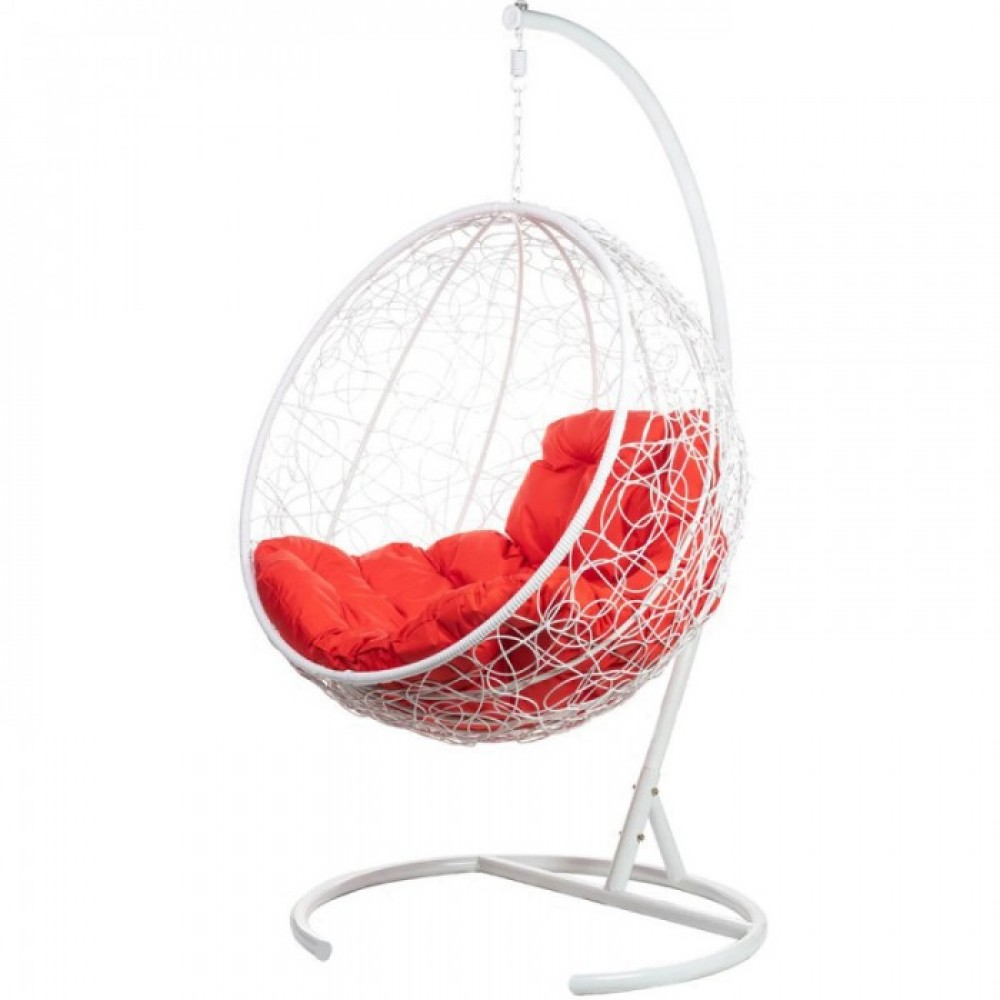 Подвесное кресло BiGarden Kokos White (красная подушка)