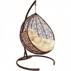 Подвесное кресло BiGarden Tropica brown (бежевая подушка)