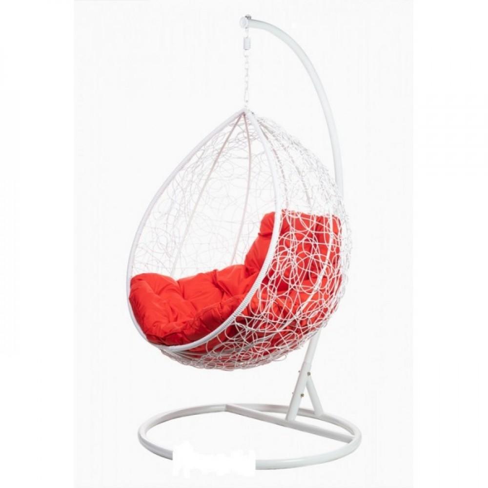 Подвесное кресло BiGarden Tropica White (красная подушка)