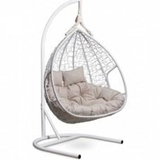 Подвесное кресло-кокон Laura Outdoor Fisht белый/белый