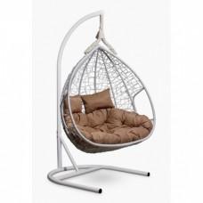 Подвесное кресло-кокон Laura Outdoor Fisht белый/бежевый