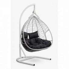 Подвесное кресло-кокон Laura Outdoor Fisht белый/черный
