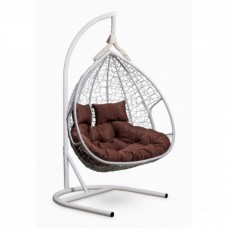 Подвесное кресло-кокон Laura Outdoor Fisht белый/коричневый