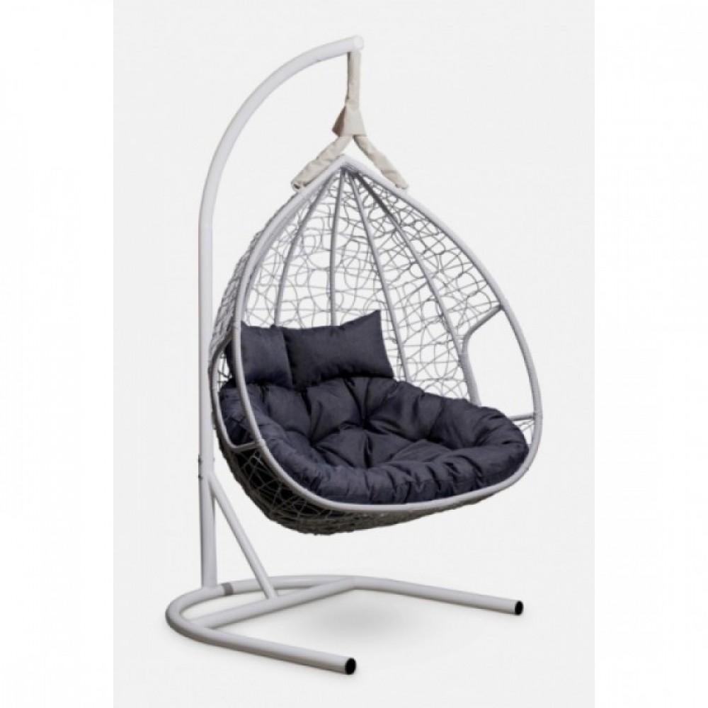 Подвесное кресло-кокон Laura Outdoor Fisht белый/серый