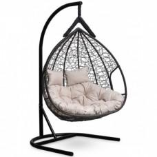 Подвесное кресло-кокон Laura Outdoor Fisht черный/белый