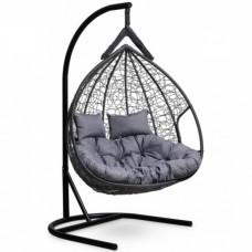 Подвесное кресло-кокон Laura Outdoor Fisht черный/серый