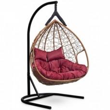 Подвесное кресло-кокон Laura Outdoor Fisht горячий шоколад/бордовый