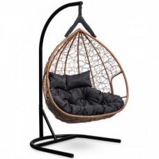 Подвесное кресло-кокон Laura Outdoor Fisht горячий шоколад/черный