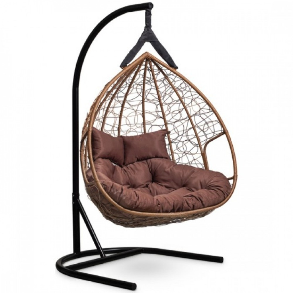 Подвесное кресло-кокон Laura Outdoor Fisht горячий шоколад/коричневый