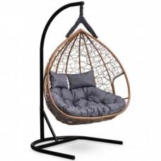 Подвесное кресло-кокон Laura Outdoor Fisht горячий шоколад/серый