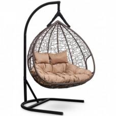 Подвесное кресло-кокон Laura Outdoor Fisht коричневый/бежевый