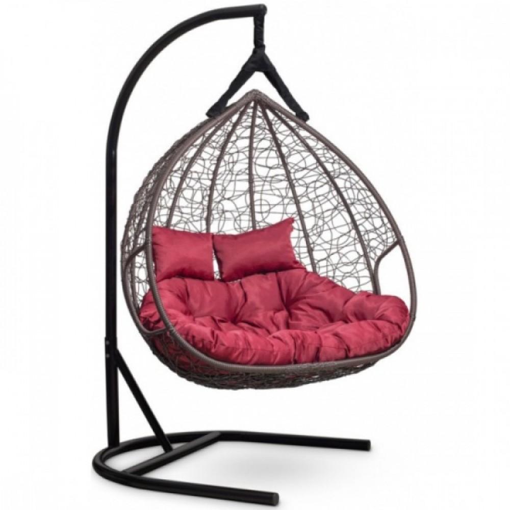 Подвесное кресло-кокон Laura Outdoor Fisht коричневый/бордовый