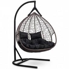 Подвесное кресло-кокон Laura Outdoor Fisht коричневый/черный