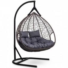 Подвесное кресло-кокон Laura Outdoor Fisht коричневый/серый