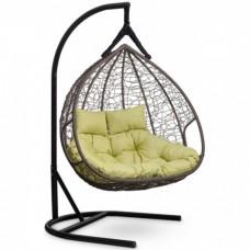 Подвесное кресло-кокон Laura Outdoor Fisht коричневый/зеленый
